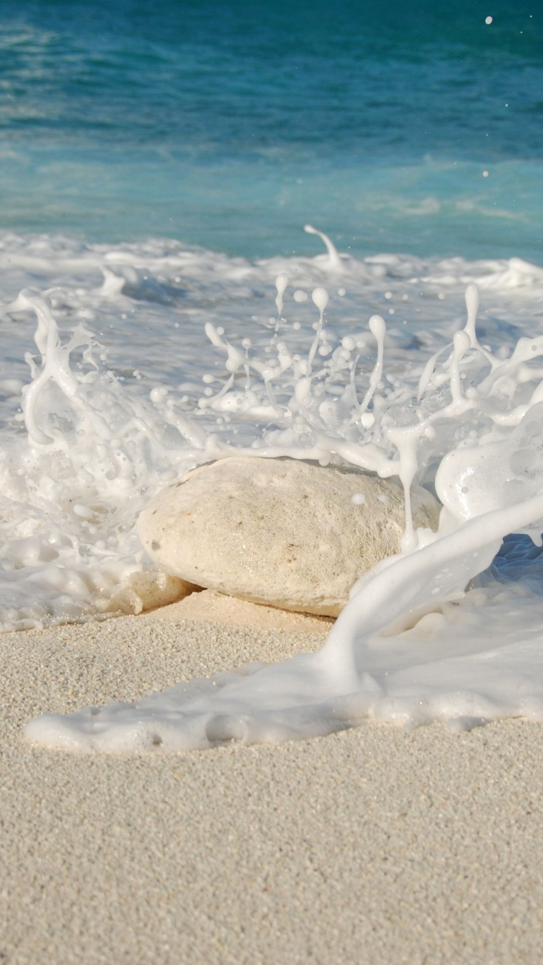 Sea, Ocean, Sand, Stone, Splash Wallpaper, | Infinity ...