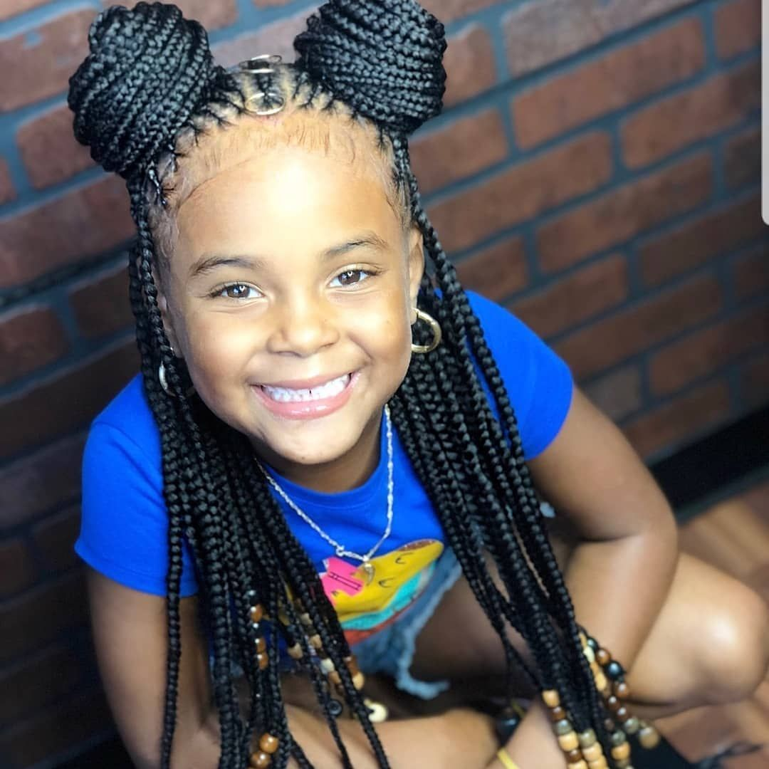 GIRLS PROTECTIVE HAIRSTYLE 💕💕💕💕💕   Lil girl hairstyles, Black ...