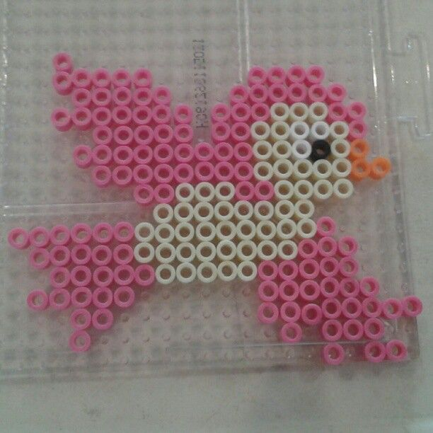 Bird perler beads by Eleka Peka