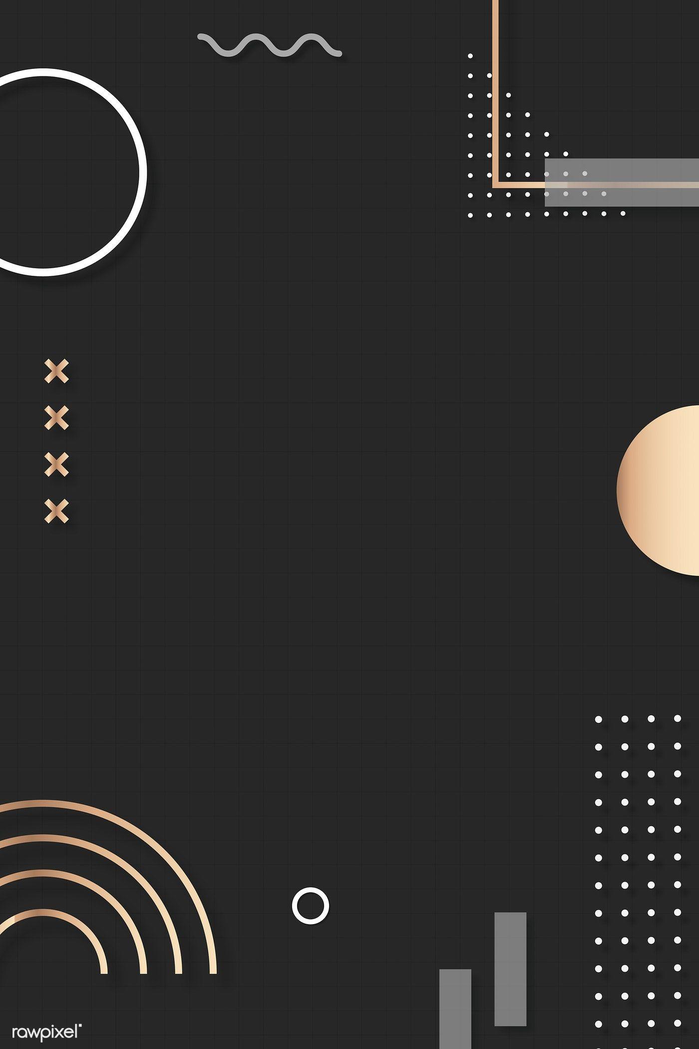 Download premium vector of Dark brown Memphis Pinterest
