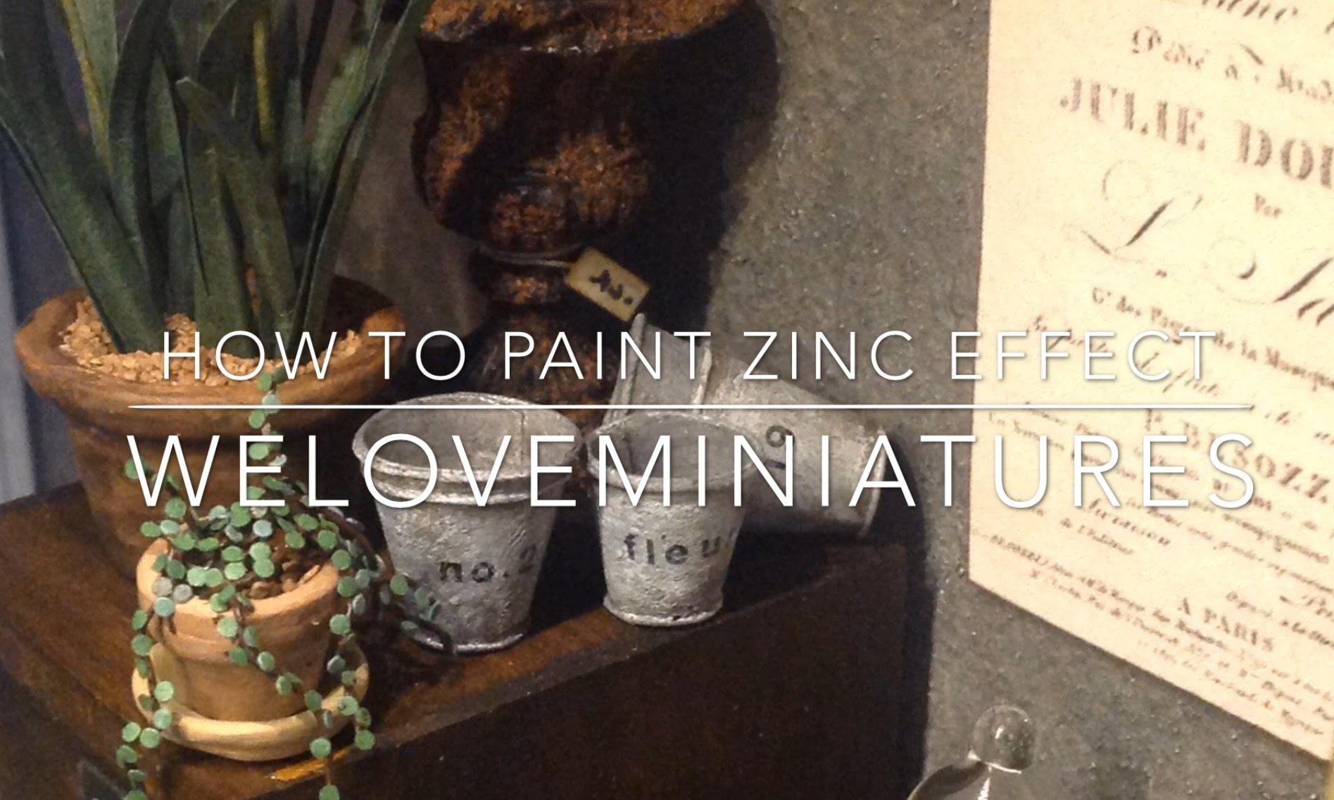 Hi miniature friends. Today I show how I paint zinc effect on a ...