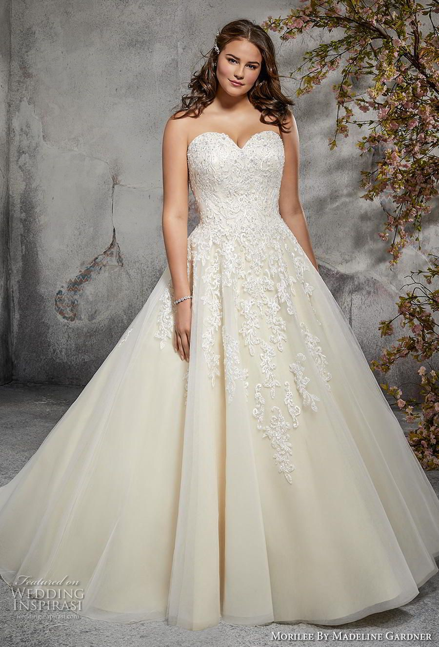 Morilee S Julietta Bridal Collection Designed To Celebrate Your Curves Wedding Inspirasi Plus Size Wedding Gowns Wedding Dresses Strapless Ball Gowns Wedding [ 1326 x 900 Pixel ]