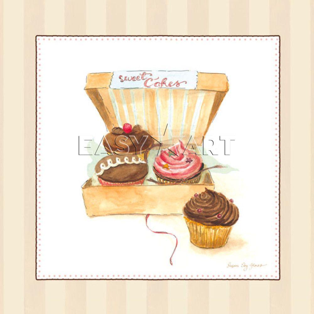 cupcake posters acheter cupcake quartet poster sur toile d licieux g teaux et. Black Bedroom Furniture Sets. Home Design Ideas