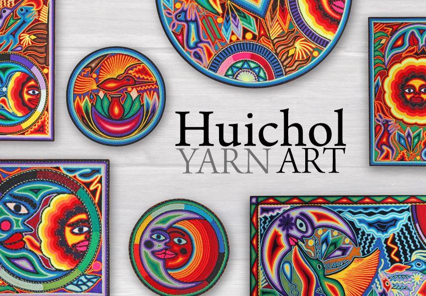 huichol yarn paintings art for sale mexican yarn art on home depot paint sales this week id=87749