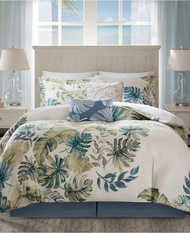 Harbor House Lorelei Palm Print Bedding Sets Reviews Bedding Collections Bed Bath Macy S Comforter Sets Bedding Sets Harbor House