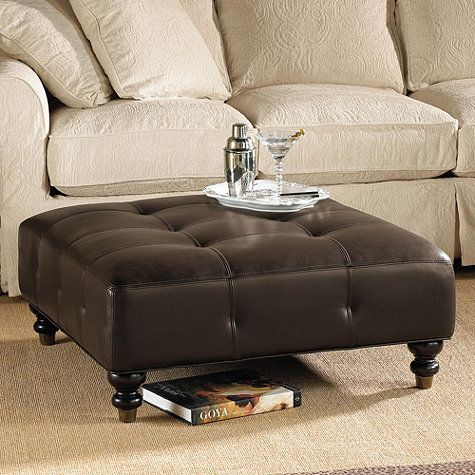 Brilliant Kent Leather Ottoman 35X35X16 399 99 Ballard Design Amy Short Links Chair Design For Home Short Linksinfo