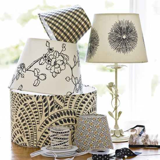 How To Cover A Lampshade Ideal Home Country House Interior