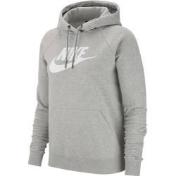 Nike Damen Kapuzensweatshirt Sportswear Essential Womens, Größe Xl in Dk Grey Heather/white, Größe X #womenssweatshirts