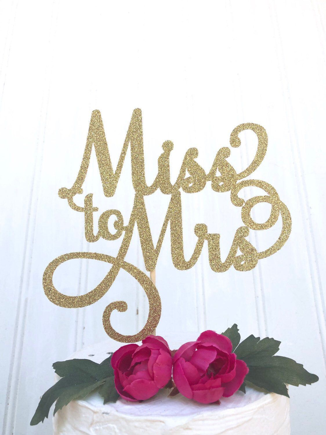 Bridal Shower Cake Topper Bride to Be Cake Topper Bachelorette Cake Topper Future Mrs Cake Topper Wedding Cake She Said Yes Cake Topper