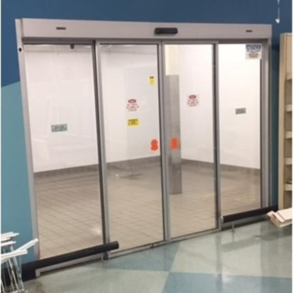 17 39 X 24 39 6 Quot X 10 39 H Walk In Cooler With Automatic Entry Door 417 Sq Ft Barr Commercial Refrigeration Entry Doors Barr Doors