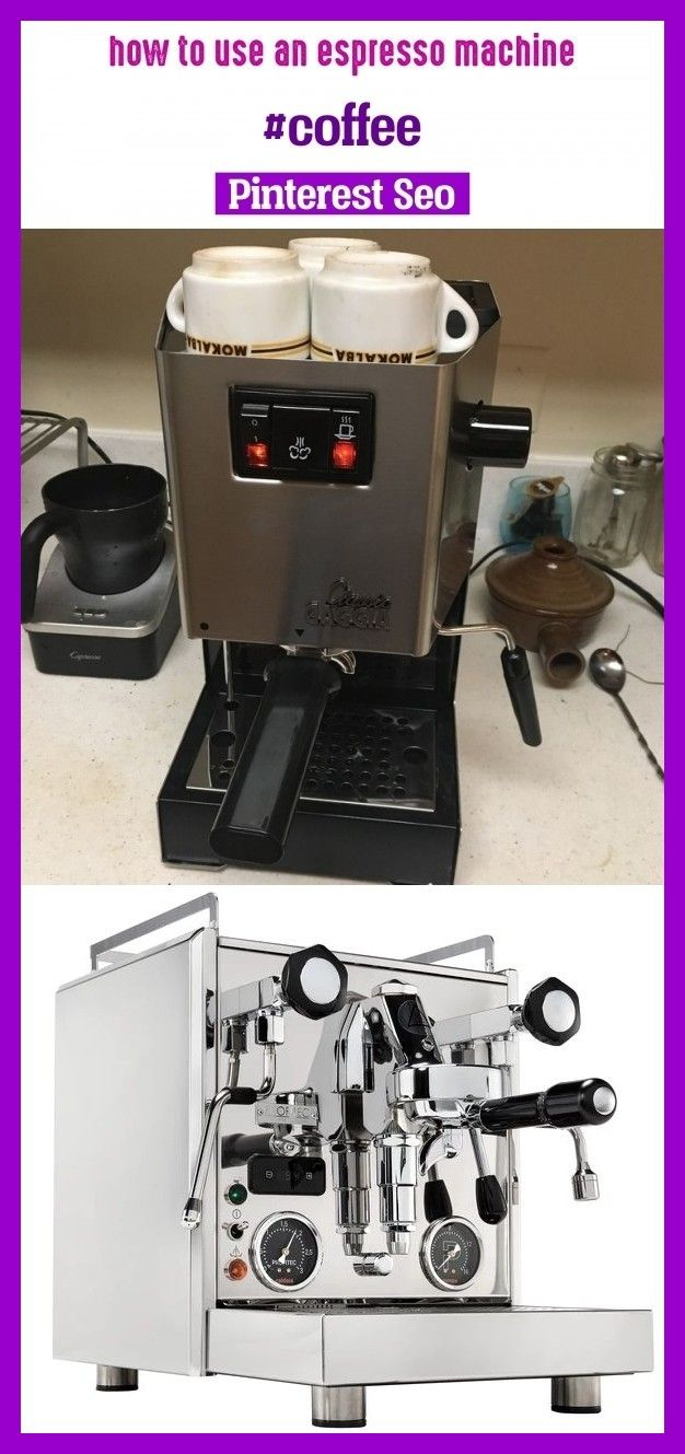 How to use an espresso machine coffee keywords niches