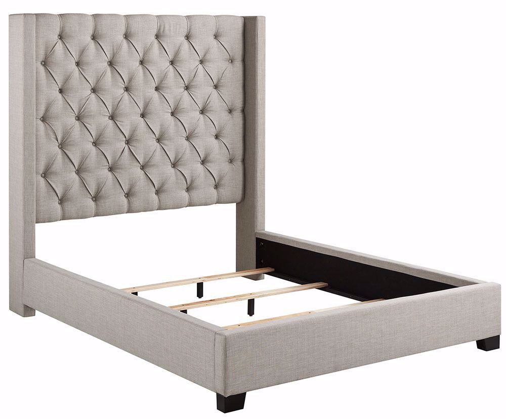 Best Picture Of Westerly Light Grey King Upholstered Bed Set 400 x 300
