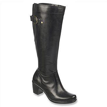 Women's Knee High Boots/Naturalizer Eliane Wide Shaft Black Bali