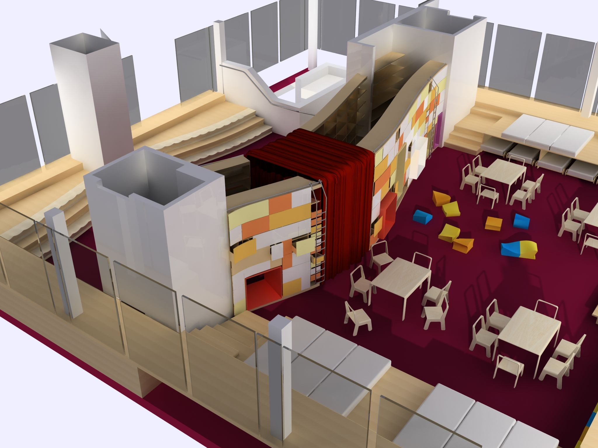 Kindergarten Interior Design Proposal MA Thesis Overall View