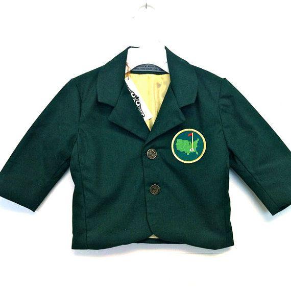 Custom Boys Green Blazer - golf inspired - Green Twill - Made to ...