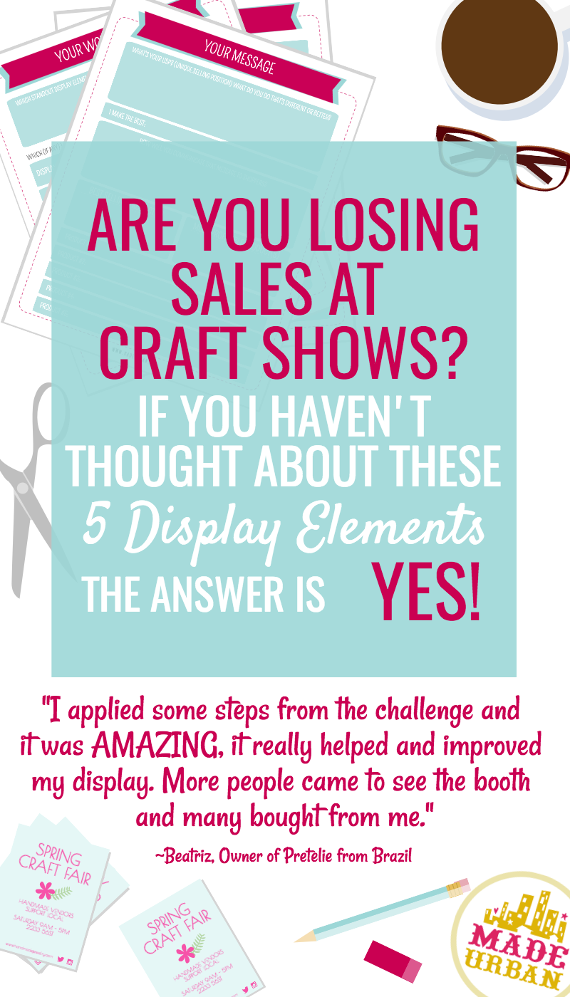 Tips and worksheets to help you create a craft show display that ...