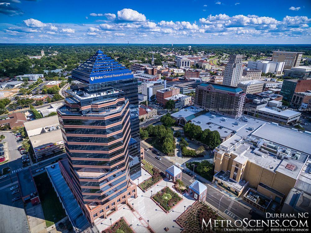 Aerial Of Downtown Durham North Carolina Buildings Metroscenes Com