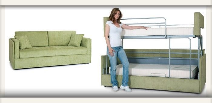 Proteas Coupe From Sofa To Bunk Bed In A Few Seconds Rv Furniture Bunk Beds Bunks