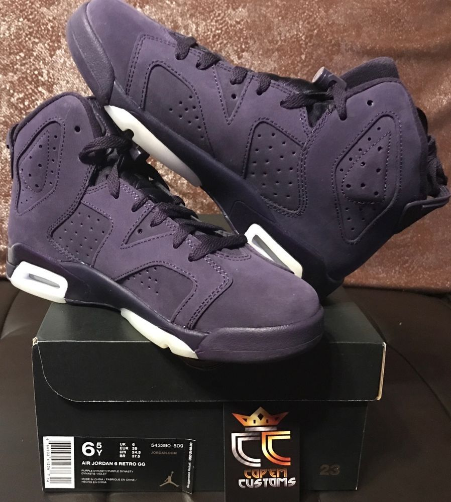 61aa613f9bea19 NEW Nike Air Jordan 6 Retro GG  Purple Dynasty  Size GG GS 6.5Y (543390  509)  Nike  Athletic