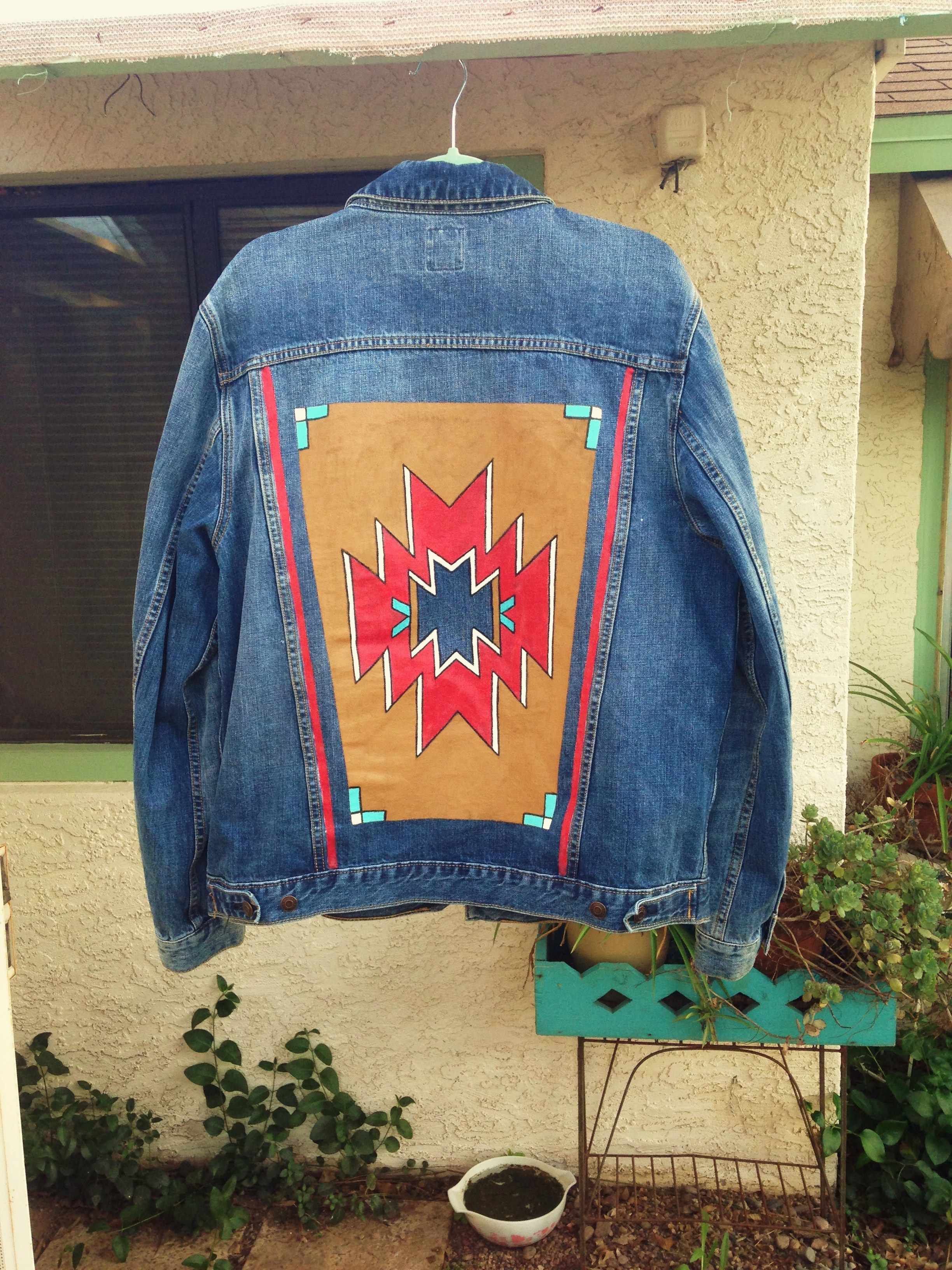 Western Motif Custom Painted On Denim Jacket By Bleudoor On Instagram Painted Denim Diy Jacket Refashion Jean Jacket Diy [ 3264 x 2448 Pixel ]