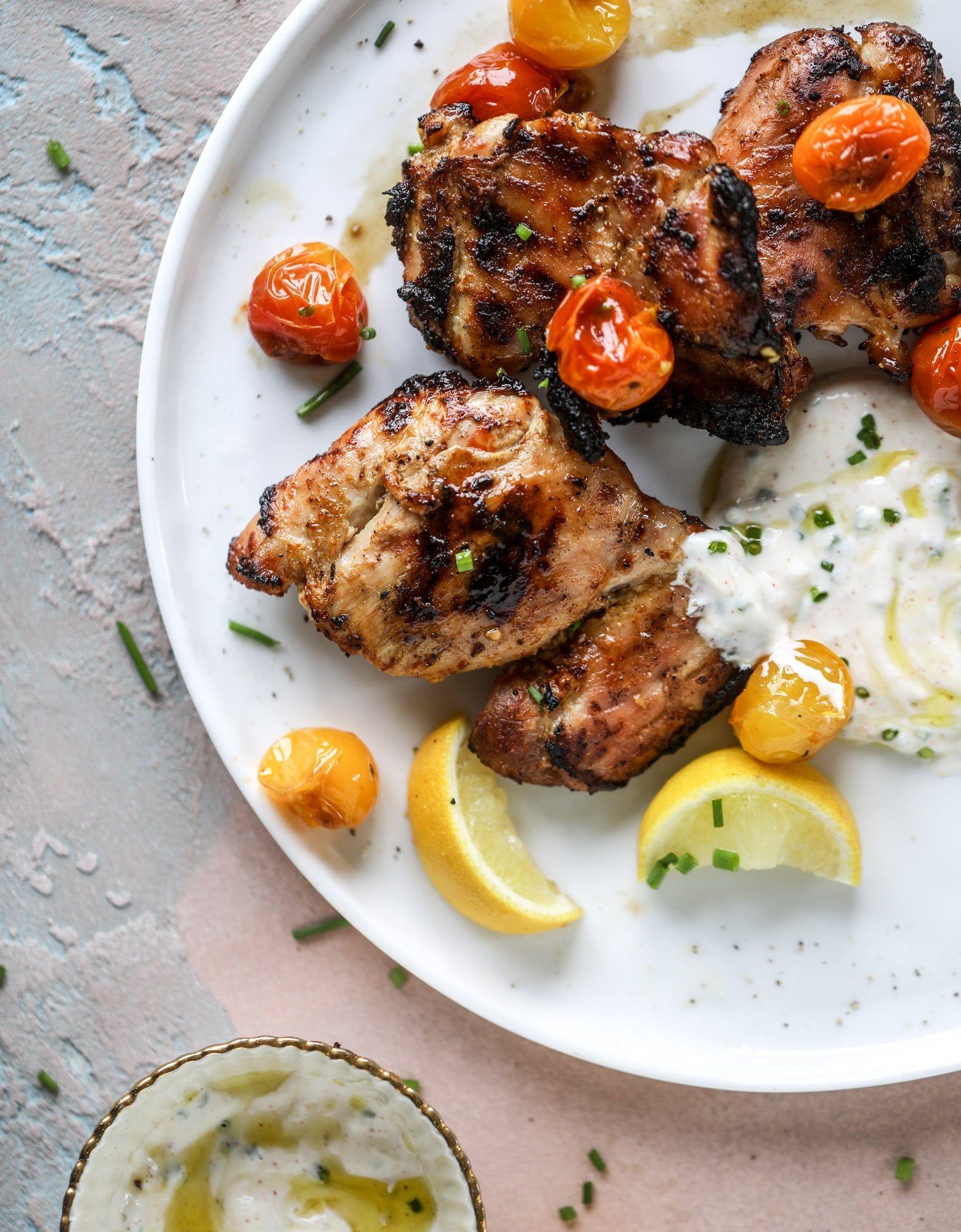 Yogurt Marinated Chicken Yogurt And Lemon Grilled Chicken Recipe Recipe Yogurt Marinated Chicken Grilled Chicken Recipes Marinated Grilled Chicken