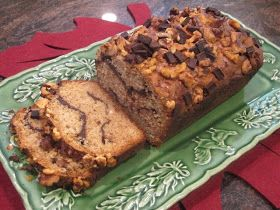 Chocolate peanut butter banana bread. All my favorites things in bread form!