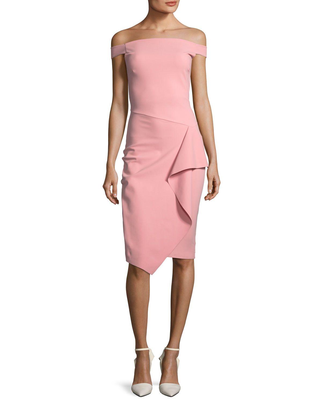 Kriti Off-the-Shoulder Draped Cocktail Dress   Pinterest