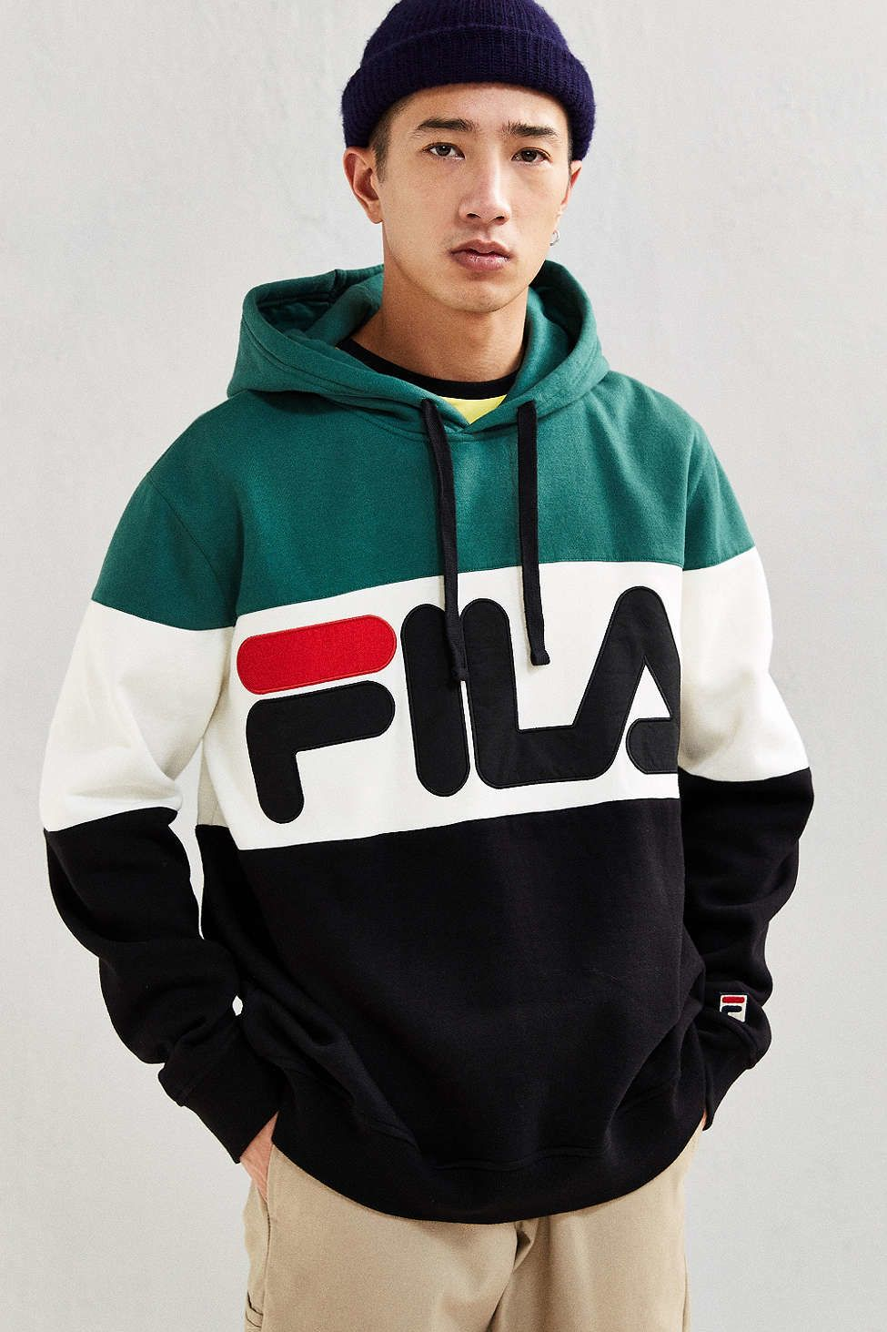 Shop FILA Colorblocked Hoodie Sweatshirt at Urban Outfitters today. We  carry all the latest styles, colors and brands for you to choose from right  here.