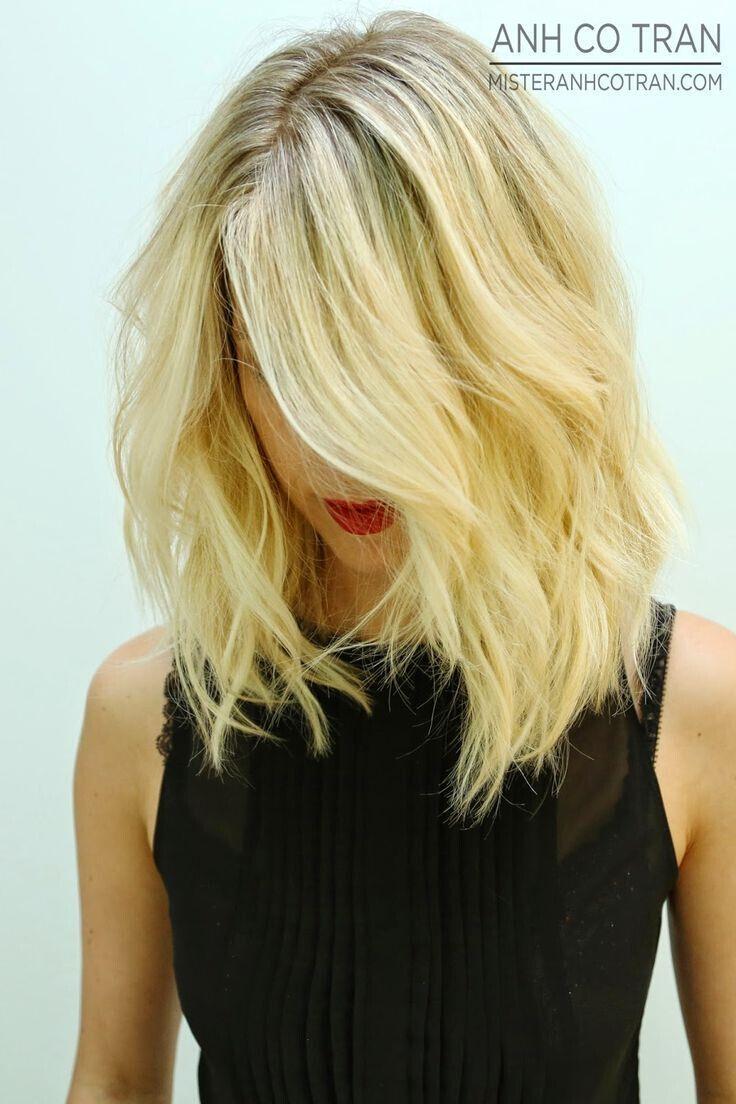 Messy long bob haircut shoulder length shaggy hairstyles beauty