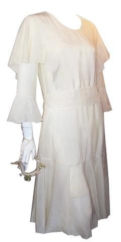 Silk Ruffled Bridal Dress and Trousseau circa 1930s