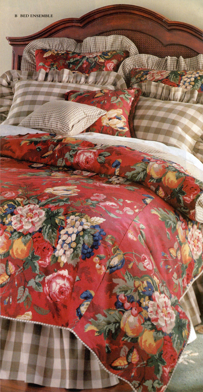 Cranberry Floral Bedding Ensemble Cranberry Sage