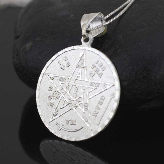 Tetragrammaton necklace silver pentagram necklace sterling silver tetragrammaton necklace silver pentagram necklace by alyssasdreams aloadofball Choice Image