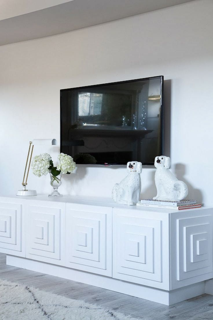30 Best Ideas About Living Rooms With White Brick Walls White  # Brick Meuble Tv Avec Foyer