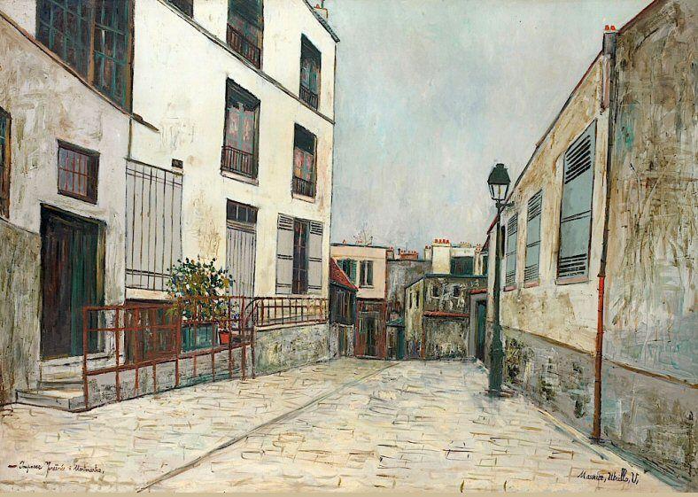 L Impasse Trainee A Montmartre Vers 1931 Une Oeuvre De Maurice