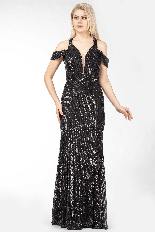 Pailletten-Kleid mit Doppelträgern Festliche Kleider