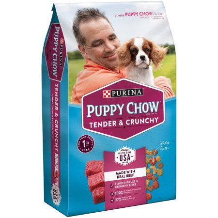 Purina Puppy Chow Tender And Crunchy Puppy Food 4 4 Lb Bag