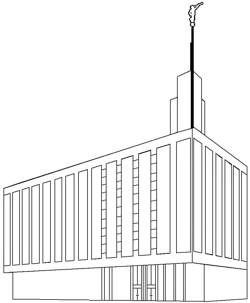 Temple Coloring Sheets St George Temple Lds Coloring Pages