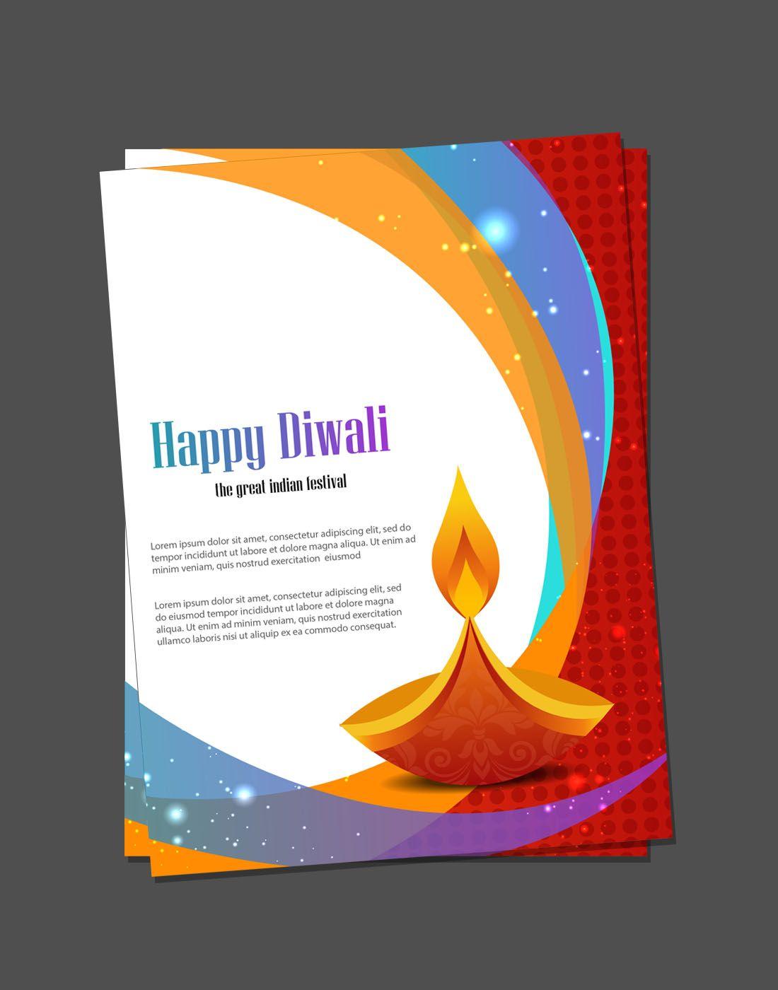 diwali card templates | diwali vector templates | Pinterest | Diwali ...