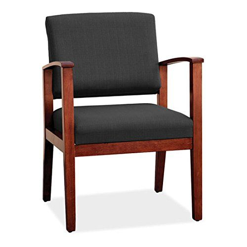 COE Distributing Chy/Bl01 Black Bonded Leather Wood Guest ...