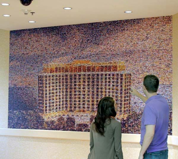 Beau Rivage Resort & Casino mosaic in Mississippi, made up of 1300 cell images.