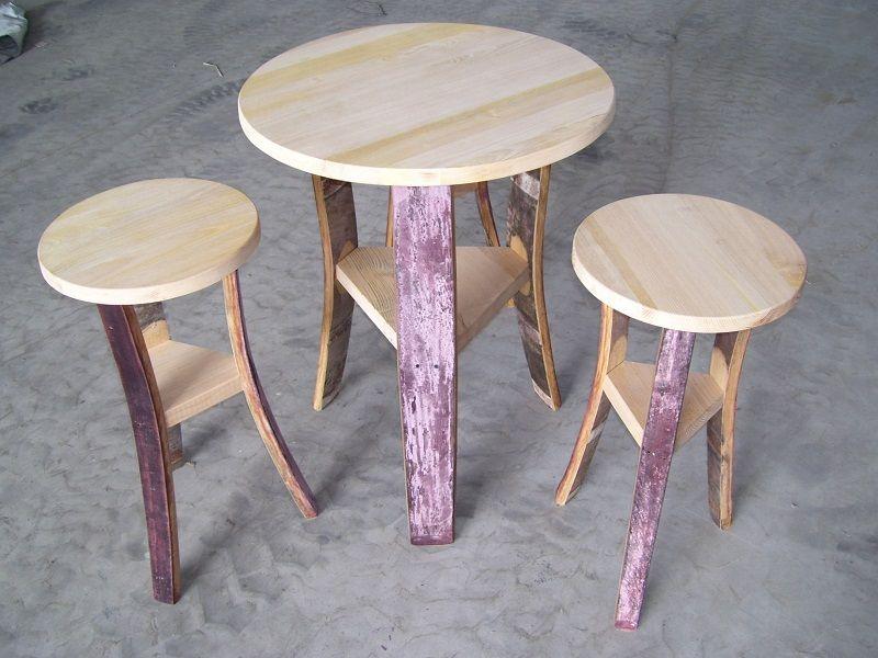 Sgabelli Con Doghe Di Botte : Costruire un tavolo nuovo di ispirazione tavolo con sgabelli