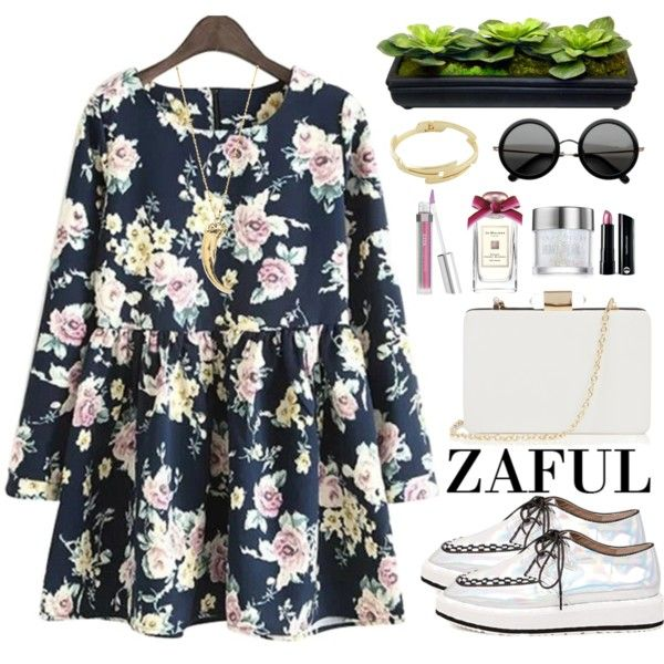 Zaful by oshint on Polyvore featuring Oasis, Vanessa Mooney, Bare Escentuals, Urban Decay and The Row