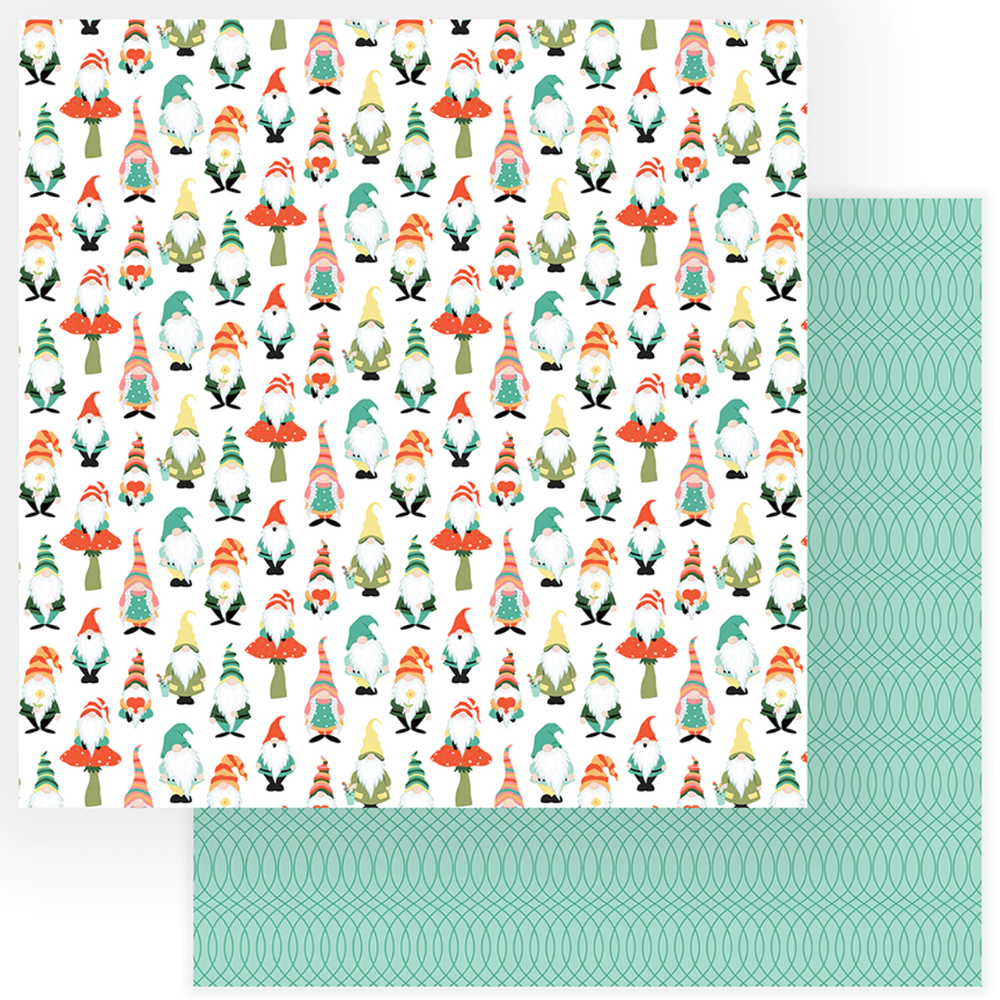 Tulla Norbert Collection Gnomies 12 X 12 Double Sided Scrapbook Paper By Photo Play Paper In 2020 Scrapbook Paper Paper Patterned Paper