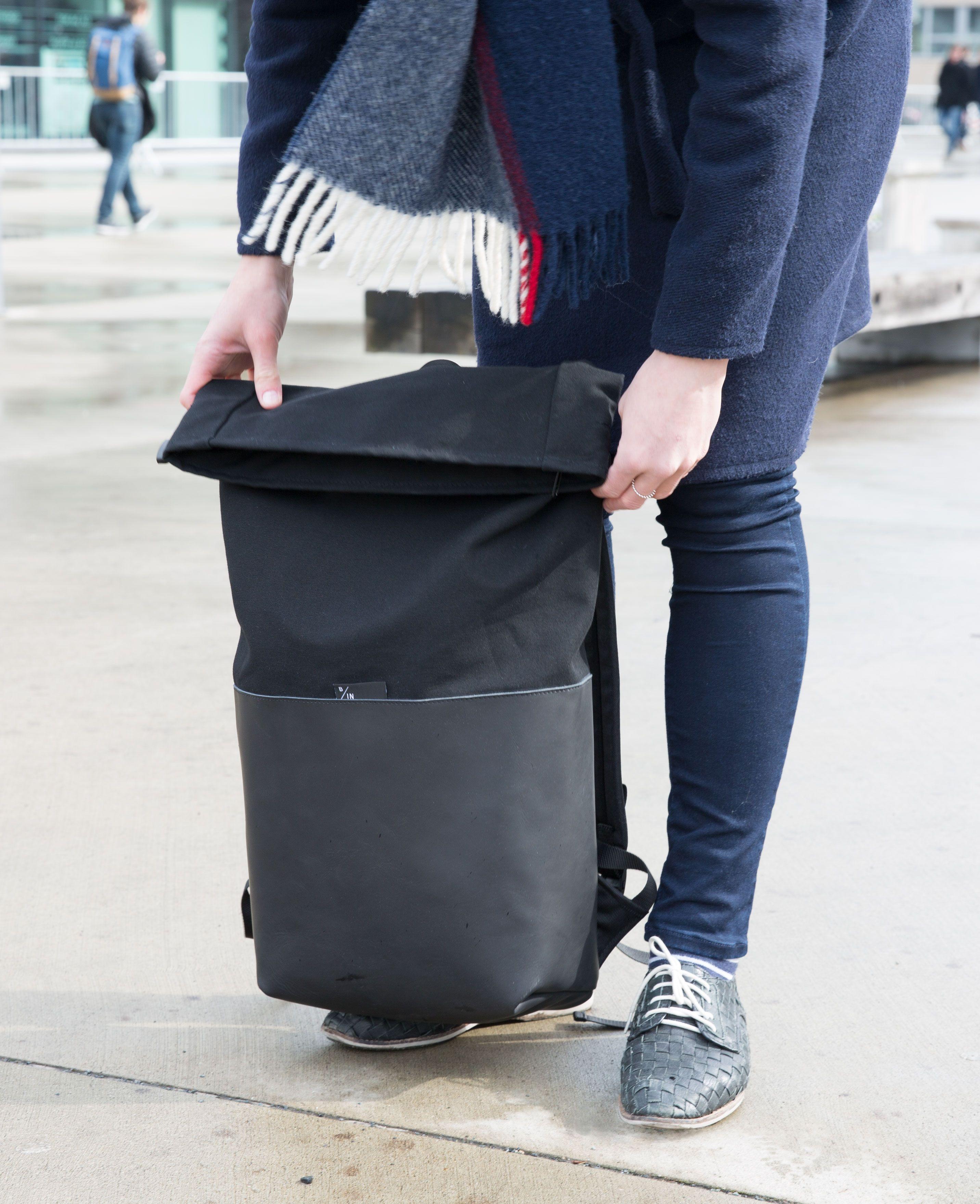 4eea42cf1 Braasi AYO Urban essentials Leather Backpack, Messenger Bag, Black Leather,  Satchel, Urban