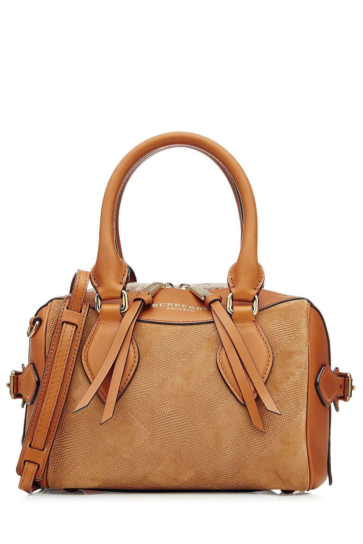 a6b55e29830f Burberry Leather and Suede Tote Burberry Bags