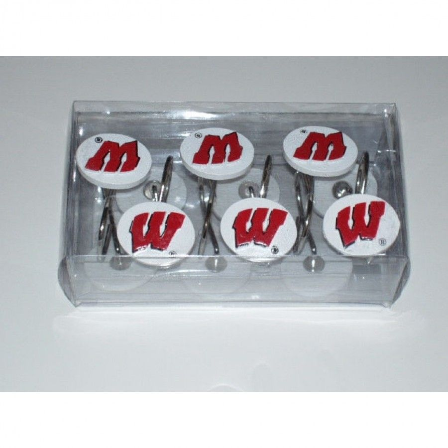 Championship Home Accessories Wisconsin Badgers 12 Piece Hook Set 9932