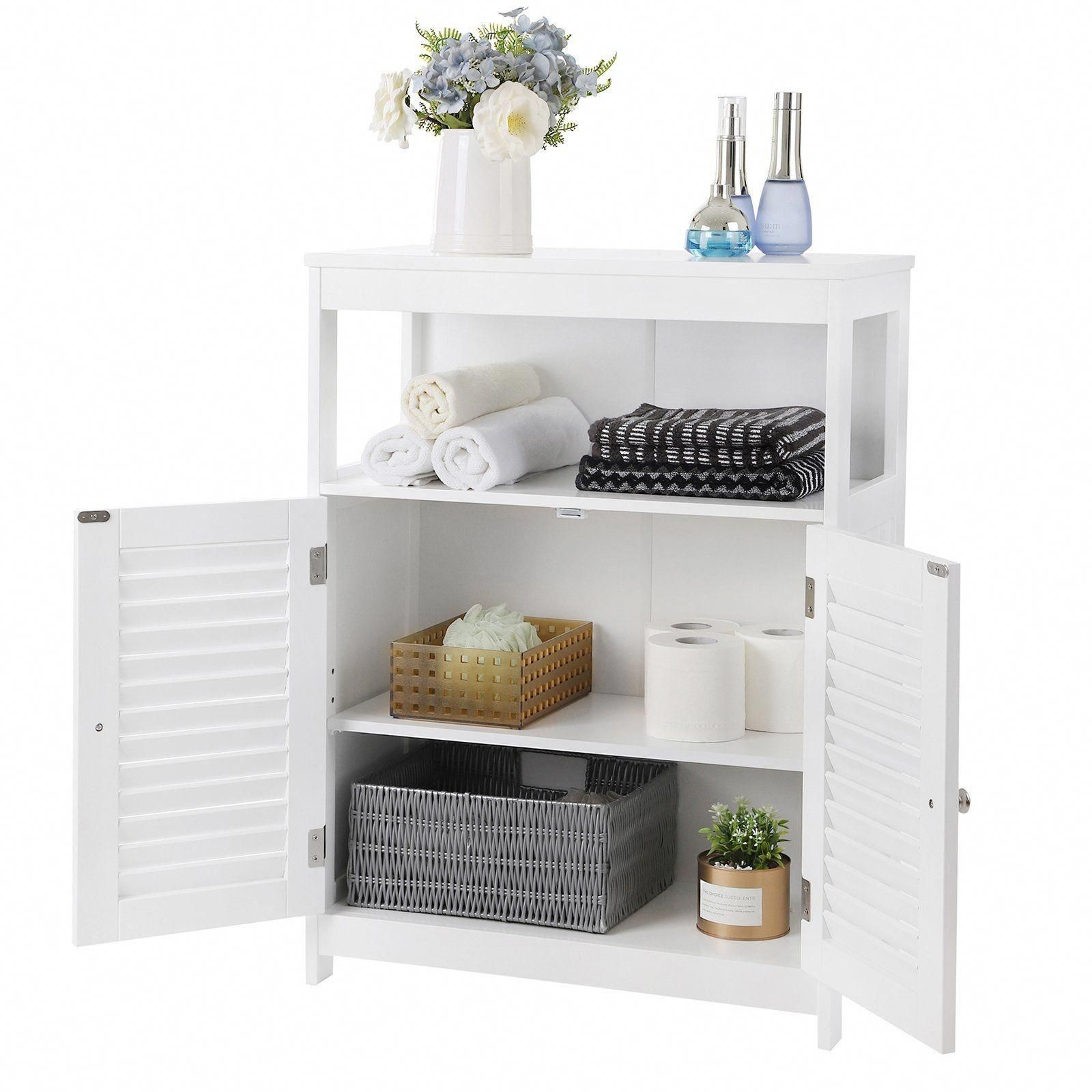 White Freestanding Bathroom Cabinet Lovely Songmics Bathroom