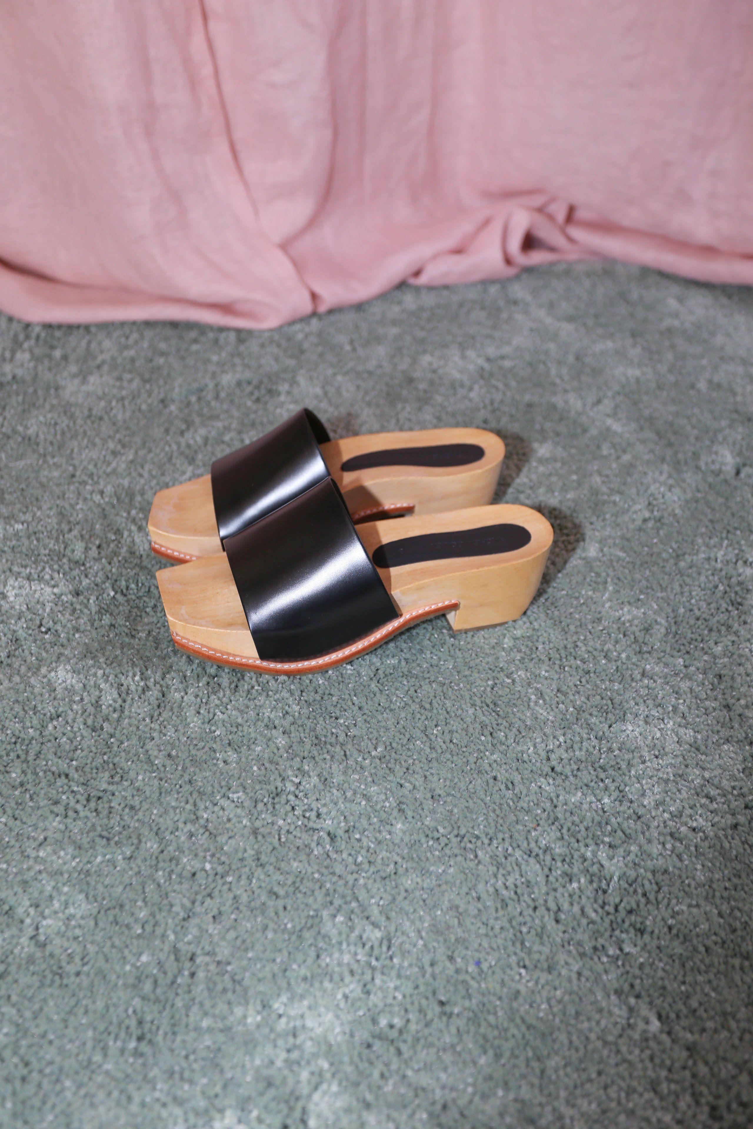 180f02fd9927 Rachel Comey Rue Clog in Black Satinado Leather