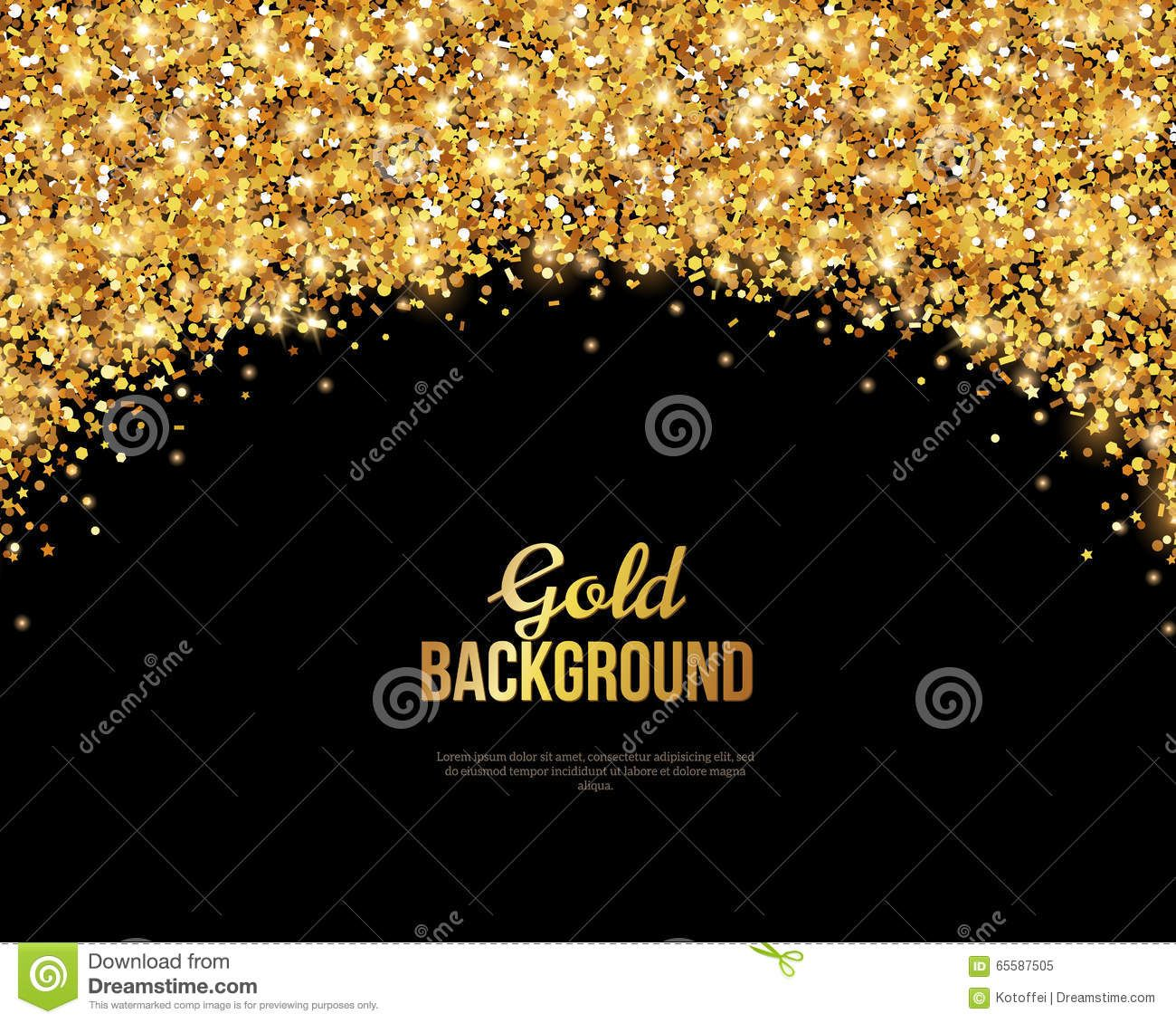 Black and Gold Banner, Greeting Card Black and gold