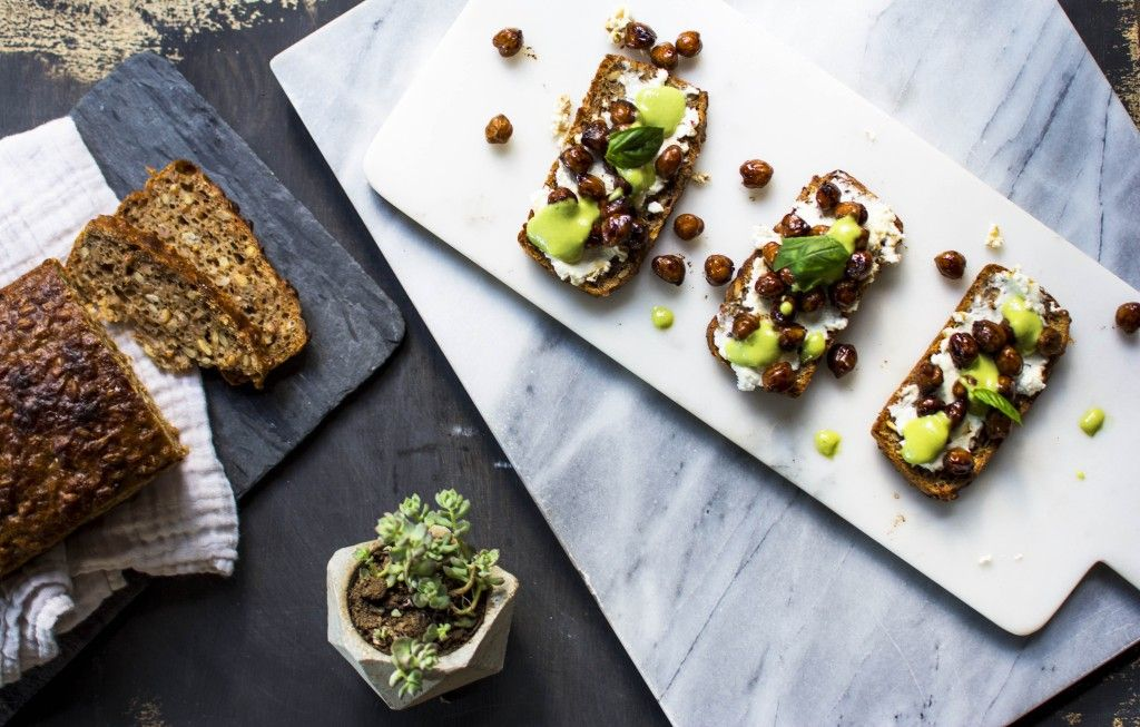 Balsamic chickpea tartine with vegan mayonnaise by como.come.cami